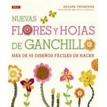 Nuevas flores y hojas de ganchillo